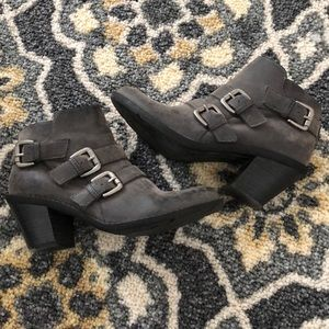 Shoes - Croma Vintage distressed ankle booties